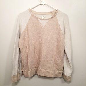 L.L. Bean Cream Knit Cozy Ragland Style Sweatshirt